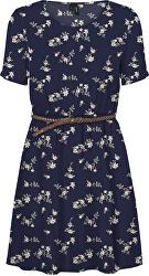 Dámske šaty VMFALLIE BELT 10233523 Navy Blaze r