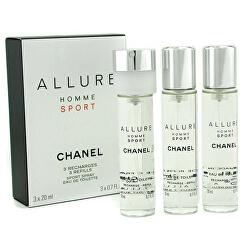 Allure Homme Sport - EDT náplň (3 x 20 ml)