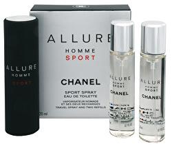 Allure Homme Sport - EDT 20 ml (plnitelný flakon) + náplň (2 x 20 ml)