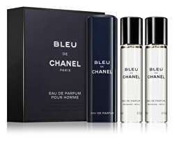 Bleu De Chanel - EDP 20 ml (plnitelný flakon) + náplň 2 x 20 ml