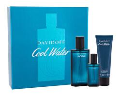 Cool Water Man - EDT 75 ml + gel de duș 50 ml + EDT 15 ml