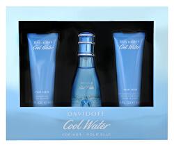 Cool Water Woman - EDT 50 ml + telové mlieko 50 ml + sprchový gel 50 ml
