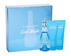 Cool Water Woman Spring Edition - EDT 100 ml + tělové mléko 75 ml + sprchový gel 75 ml