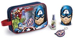 Avengers - EDT 90 ml + pěna do koupele 300 ml + klíčenka + kosmetická taštička