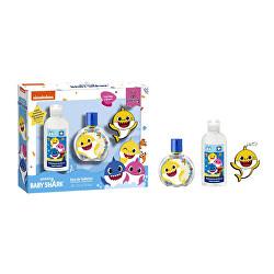 Baby Shark - EDT 50 ml + dezinfekční gel 100 ml + přívěšek na klíče