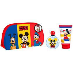 Mickey Mouse - EDT 50 ml + sprchový gel 100 ml + kosmetická taštička