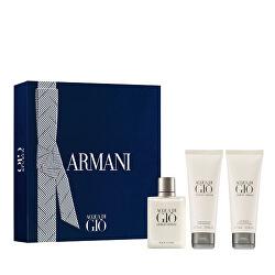 Acqua Di Gio Pour Homme - EDT 50 ml + sprchový gel 75 ml + balzám po holení 75 ml
