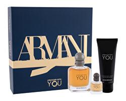 Emporio Armani Stronger With You - EDT 50 ml + gel de duș 75 ml + EDT 7 ml