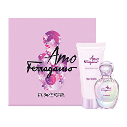 Amo Ferragamo Flowerful - EDT 50 ml + tělové mléko 100 ml