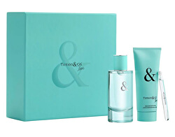 Tiffany & Love For Her - EDP 90 ml + tělové mléko 100 ml + EDP 4 ml