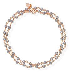 Romance BRRF34 aranyozott dupla ezüstkarkötő füstkristályokkal