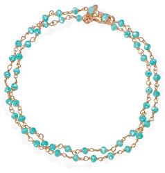 Romance BRRT34 dupla aranyozott karkötő kristályokkal