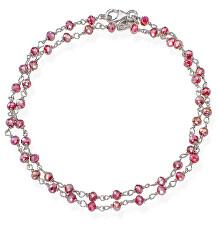 Romance BRBA34 dupla ezüstkarkötő fukszia kristályokkal