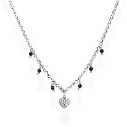 Elegantní náhrdelník s černými krystaly Candy Charm CLCBNZ