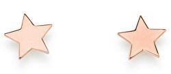 Elegantní růžové náušnice Star ORSR