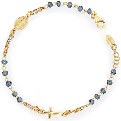 Elegantní stříbrný náramek s krystaly Rosary BROGBL3
