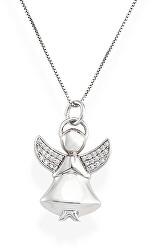 Jemný stříbrný náhrdelník se zirkony Angels A2BB (řetízek, přívěsek)