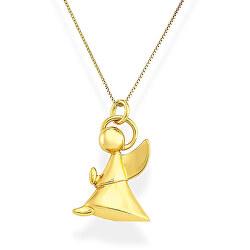 Originální pozlacený náhrdelník Angels A4G (řetízek, přívěsek)