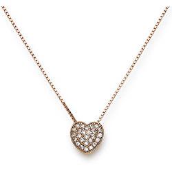 Originální pozlacený náhrdelník se zirkony Love CLPHR