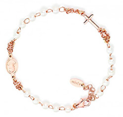 Originální pozlacený náramek s perličkami Rosary BRORB3