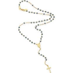 Originální pozlacený růženec s modrými krystaly Rosary CROGBL4
