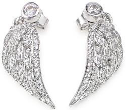 Originální stříbrné náušnice se zirkony Angels EWH3
