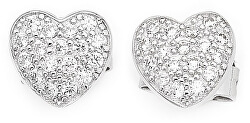 Originální stříbrné náušnice se zirkony Love EH