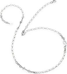 Originální stříbrný náhrdelník s perlami Rosary CROBB3