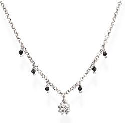 Originálne strieborný náhrdelník so zirkónmi a kryštály Romance CLQBNZ