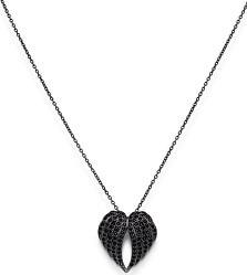 Originální stříbrný náhrdelník se zirkony Angels CLWH3NN