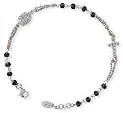 Originální stříbrný náramek s krystaly a zirkony Rosary BROBNZ3