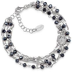 Originální stříbrný náramek s krystaly Rosary BRMFBG