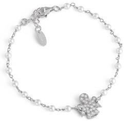Originálne strieborný náramok so zirkónmi a perlami Angels BRBBZ