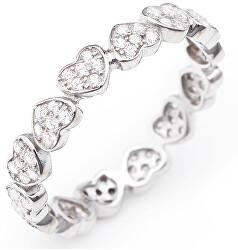 Eredeti ezüst gyűrű cirkóniákkal Love RHHZ