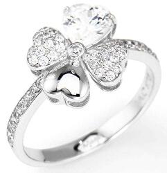 Eredeti ezüstgyűrű cirkóniummal Love RQUBB