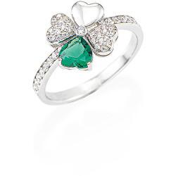 Love RQUBV szerencsét hozó eredeti ezüstgyűrű