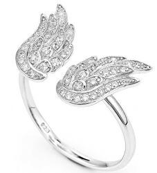 Originální stříbrný prsten se zirkony Angels RW