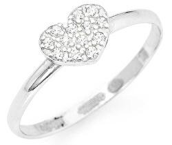 Eredeti ezüst gyűrű cirkóniákkal Love RH