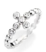 Originální stříbrný prsten se zirkony Rosary ABOBB