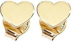 Pozlacené stříbrné náušnice Pray, Love ORHG