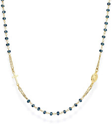 Pozlacený stříbrný náhrdelník s krystaly Rosary CROGBL3