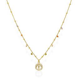 Pozlacený stříbrný náhrdelník s krystaly Tree of Life CLALGM3