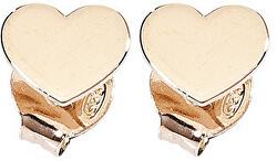 Růžově pozlacené stříbrné náušnice Pray, Love ORHR