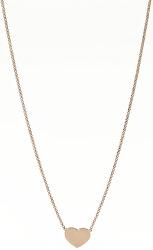 Růžově pozlacený stříbrný náhrdelník Pray, Love CLHR3