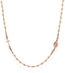 Růžově pozlacený stříbrný náhrdelník Rosary CRORD3