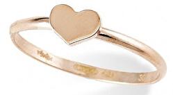 Růžově pozlacený stříbrný prsten Pray, Love AHR