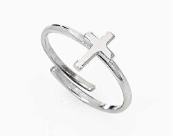 Stříbrný prsten s křížkem Croce AFCB