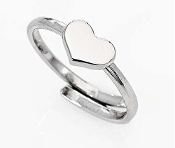 Stříbrný prsten se srdcem AFHB