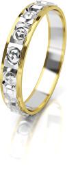 Inel din aur bicolor dama AUG303