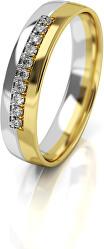 Dámský bicolor snubní prsten ze zlata AUG318